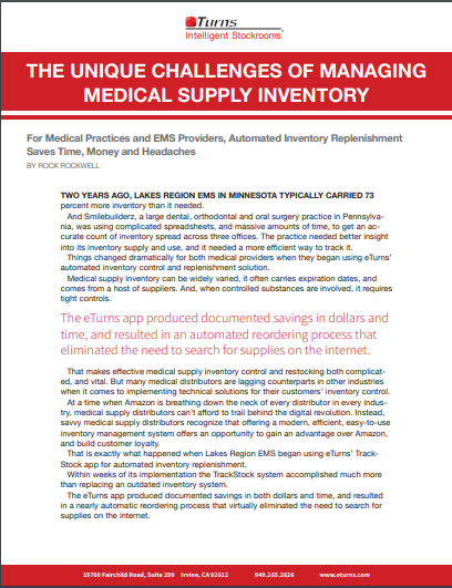 Managing Medical Supply with eTurns